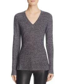Aqua V-Neck Cashmere Sweater at Bloomingdales