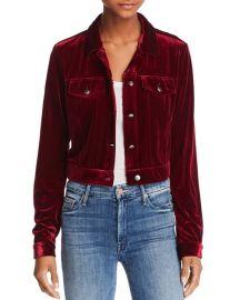 Aqua Velvet Jacket at Bloomingdales