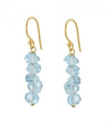 Aquamarine stack earrings by Peggy Li at Peggy Li