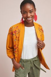 Arabella Embroidered Jacket by Anthropologie at Anthropologie