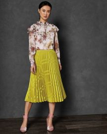 Arabesque ruffle high neck top at Ted Baker