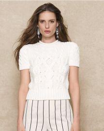 Aran Short Sleeve Sweater at Ralph Lauren