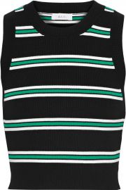 Archer Striped Sleeveless Crop Top by A.L.C. at The Outnet