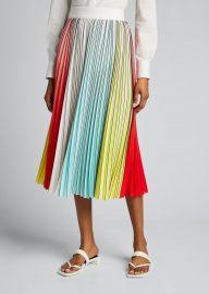 Arden Pleated Midi Skirt at Bergdorf Goodman