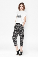 Argan Rose Peg Leg Trousers at French Connection