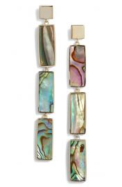 Argento Vivo Geometric Mother of Pearl Drop Earrings at Nordstrom