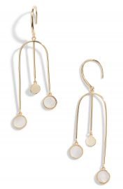 Argento Vivo Swing Drop Mother of Pearl Earrings   Nordstrom at Nordstrom