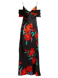 Argos floral-print silk-satin dress at Matches