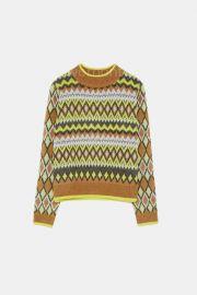 Argyle Knit Sweater by Zara at Zara