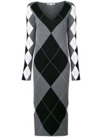 Argyle print midi dress at Farfetch
