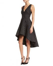 Aria Starlight High-Low Dress Black at Neiman Marcus