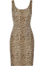 Arianna Leopard Jacquard and Jersey Dress at The Outnet