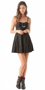 Aria's black leather dress at Shopbop at Shopbop