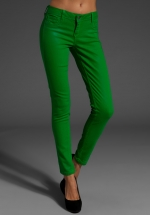 Aria's green jeans at Revolve at Revolve
