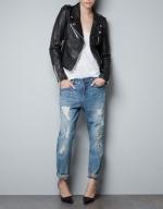 Aria's leather jacket at Zara at Zara