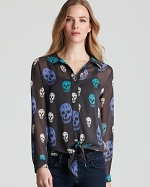 Arias skull blouse in different colors at Bloomingdales
