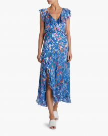 Arielle Floral Print Ruffle Dress by Tanya Taylor at Olivela