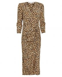 Arielle Leopard Silk Crepe Dress at Intermix