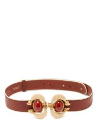 Aries cabochon-embellished leather belt at Matches