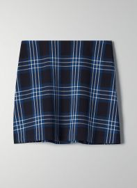 Aritzia Wilfred New Classic Check Mini Skirt in Nightbird/Giselle Lily at Aritzia