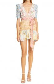 Arlo Mixed Print Silk Georgette Minidress by LoveShackFancy at Nordstrom