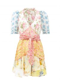 Arlo Mixed Print Silk Georgette Minidress by LoveShackFancy at Matches