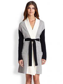 Arlotta - Colorblocked Cashmere Short Robe at Saks Fifth Avenue