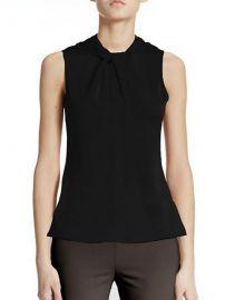 Armani Collezioni - Twist Silk Top in Black at Saks Fifth Avenue