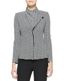 Armani Collezioni Jacquard Asymmetric-Front Jacket at Neiman Marcus