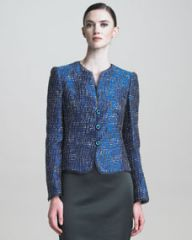 Armani Collezioni Lurex Tweed Jacket at Neiman Marcus