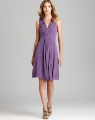 Armani Collezioni V Neck Dress - Matte Jersey Sleeveless at Bloomingdales