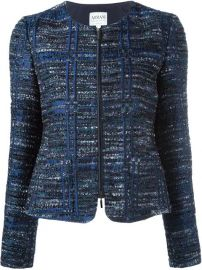Armani Collezioni Zip-up Tweed Jacket at Farfetch
