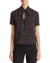 Armani Printed Tie-Neck Top Women - Bloomingdale s at Bloomingdales