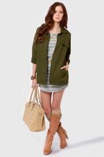 Army green jacket like Emilys at Lulus