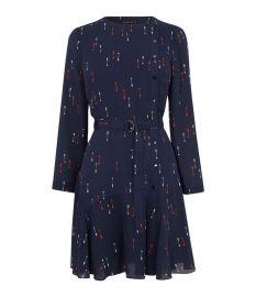 Arrow-Print Mini Dress at Karen Millen