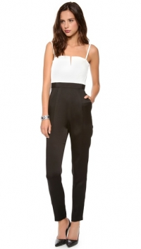 Arrow Tank Pleat Jumpsuit by Alice and Olivia at Shopbop