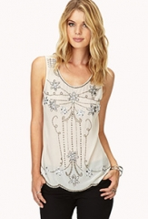 Art Deco Beaded Top at Forever 21