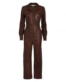 Artemis Leather Jumpsuit by Veronica Beard at Intermix