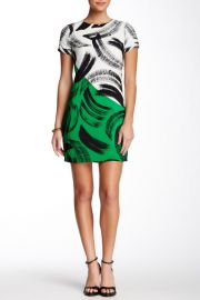 Artful Strokes Shift Dress Petite at Nordstrom Rack