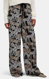 Artisanal Tiger-Print Silk Pajama Pants at Barneys