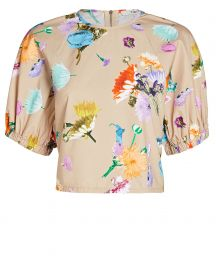 Arya Shirred Floral Cotton Top at Intermix