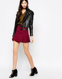 Aryn K  Aryn K Pleated Mini Skirt at Asos