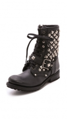 Ash Ryanna Studded Lace up Booties at Shopbop