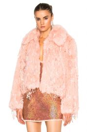 Ashish Faux Fur Dangle Jacket at Forward
