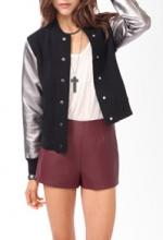 Ashley Bensons varsity jacket from Forever 21 at Forever 21
