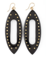 Ashley Pittman Kuacha Earrings Dark Horn at Neiman Marcus