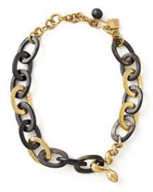 Ashley Pittman Nyoka Snake Necklace Dark Horn at Neiman Marcus