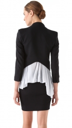 Ashleys black blazer by Helmut Lang at Shopbop