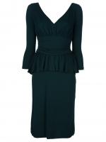 Ashleys green peplum Alexander McQueen dress on Revenge at Farfetch