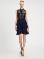 Ashleys leather dress at Saks Fifth Avenue
